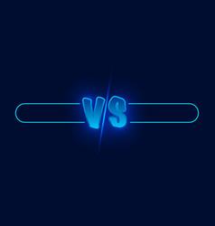 Vs duel challenge versus board rivals with vector