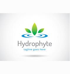 Water plant logo template design emblem design vector
