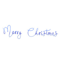 watercolor bright merry christmas text and vector image