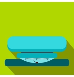 Weight scale flat icon vector image
