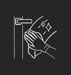 Windows washing chalk white icon on black vector