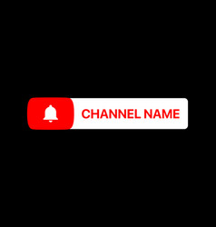 Youtube channel name title with subscribe button vector