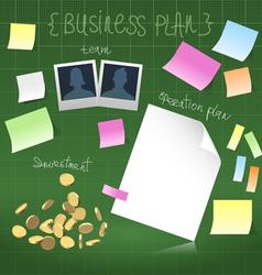 Business plan in development vector image