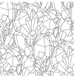 cute graphic crystal pattern vector image vector image