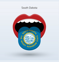 electoral vote of south dakota abstract mouth vector image