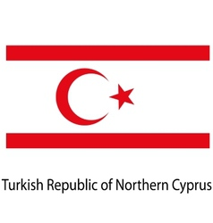 Flag the country turkish republic of northern vector image