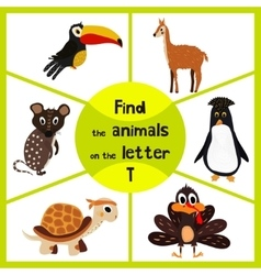 Funny learning maze game find all 3 cute wild vector image