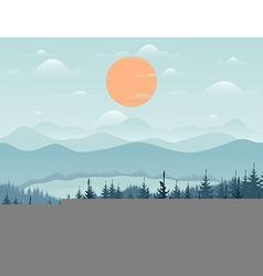 Mountain9 vector image vector image