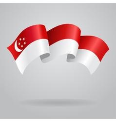 Singapore waving Flag vector image vector image