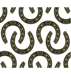 steel horseshoe seamless pattern vector image