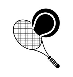 tennis ball racket sport pictogram vector image