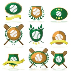 Baseball badges vector image