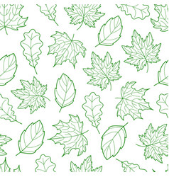 leaves seamless outline green light vector image vector image