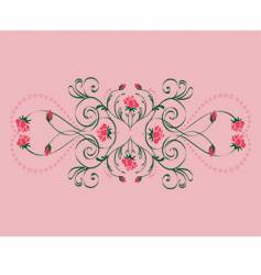 roses ornament vector image vector image