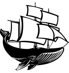 Sail Whale vector image vector image