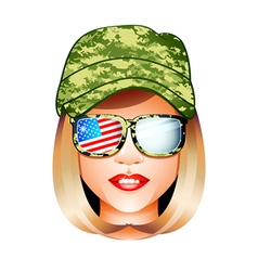 us army girl vector image vector image