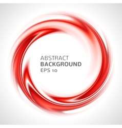 Abstract red swirl circle bright background vector image vector image