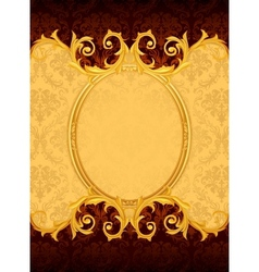 Background with the old frame vector image vector image
