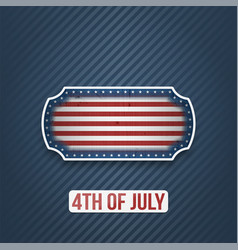 Fourth of july national holiday banner vector