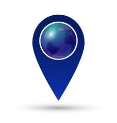 Globe location icon vector image