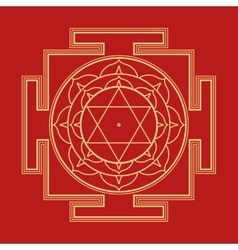 monocrome Bhuvaneshwari yantra vector image vector image