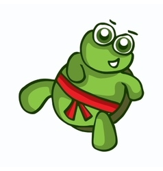 smiling cartoon turtle vector image