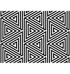 Triangles Black White Abstract Seamless Pattern vector image