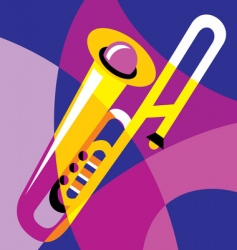 trombone vector image vector image