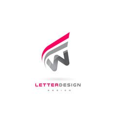 w letter logo design futuristic modern lettering vector image