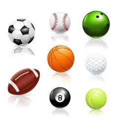 Balls icons vector image