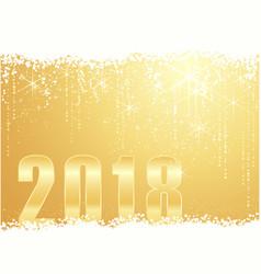golden happy new year 2018 background vector image