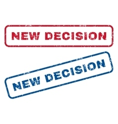 New Decision Rubber Stamps vector image