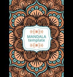 tribal card with mandala vector image vector image