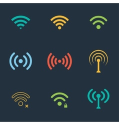 wifi icons vector image
