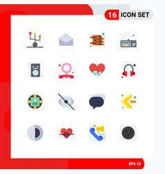 16 universal flat color signs symbols ipod vector