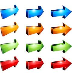 3d arrows vector image