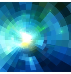 Abstract blue shining tunnel background vector image
