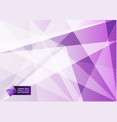 Abstract geometric purple and white color modern vector