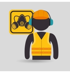 avatar worker protection tool vector image