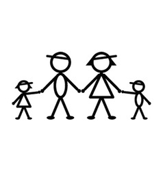 Baseball stick family vector image