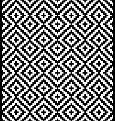 Black and white meander pixel art seamless pattern vector