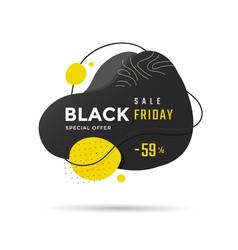 black friday sale label or banner design vector image