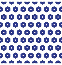 Blue and white moroccan seamless pattern vector image