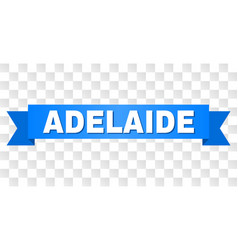 blue ribbon with adelaide title vector image