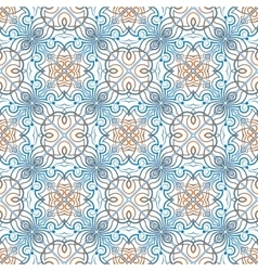 Blue with orange pattern vector