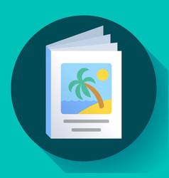 brochures icon template advertisement flyer vector image