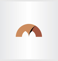 Brown letter m logo icon vector