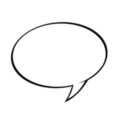 bubble speech talk communication dialog vector image
