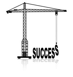 Building success vector image