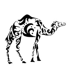 Camel vintage ornament vector image